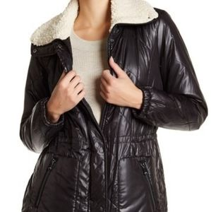 NWT Kenneth Cole Puffer Jacket With Sherpa Lining